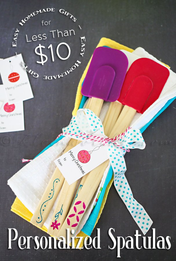 Personalized Spatulas {Homemade Gift for less than $10}