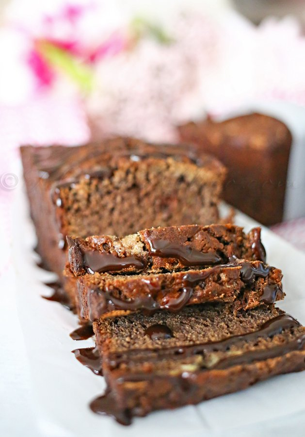 Triple Chocolate Banana Bread Recipe by kleinworthco.com Oh my deliciousness!