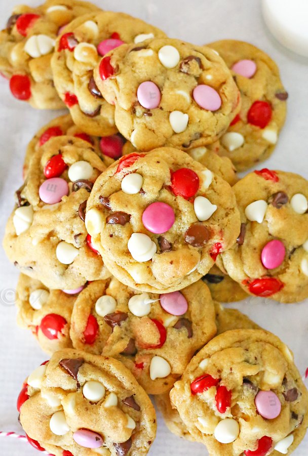 Valentine Chocolate Chip Cookies
