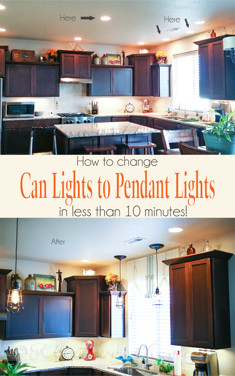 Change Can Lights to Pendant Lights {in less than 10 minutes}
