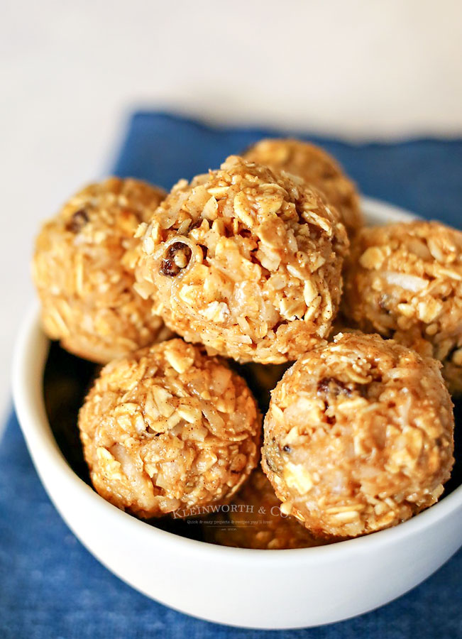 recipe for oatmeal energy bites