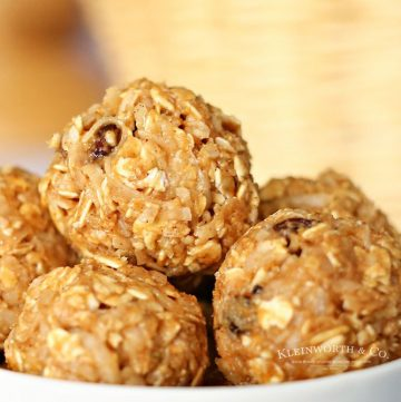 no bake oatmeal balls recipe