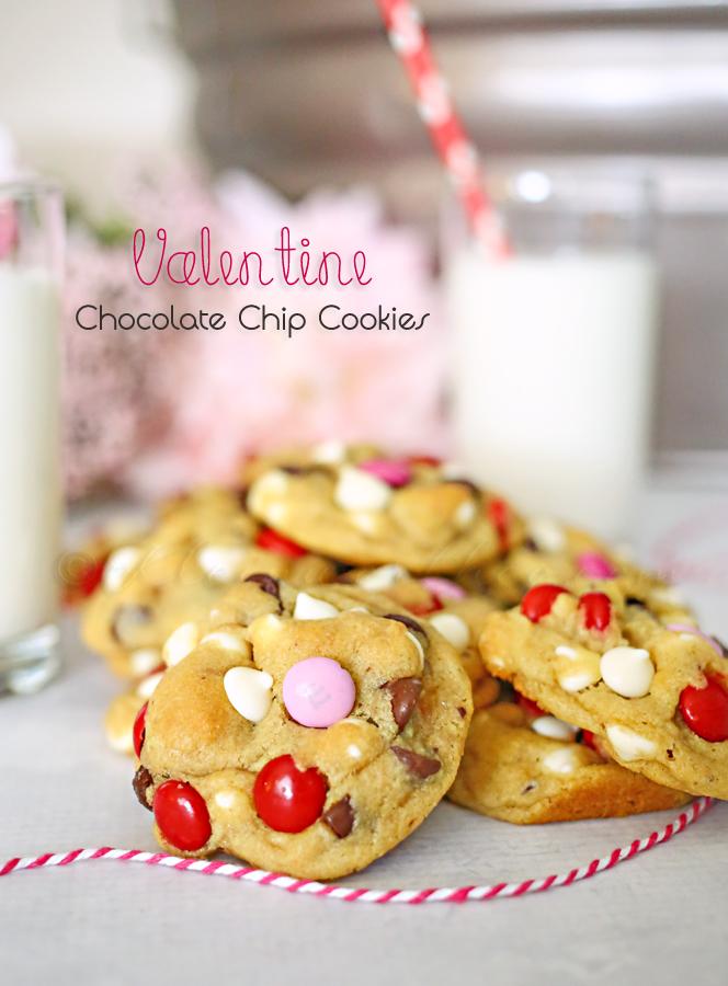 Valentine Chocolate Chip Cookies