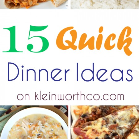 15 Quick Dinner Ideas : Easy Family Dinner Ideas