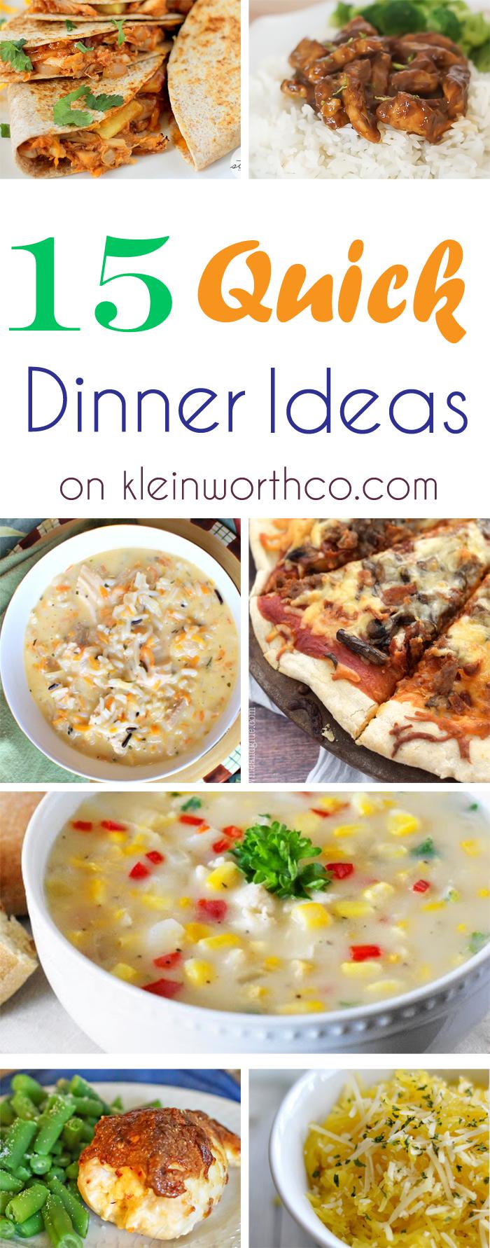 15 Quick Dinner Ideas : Easy Family Dinner Ideas