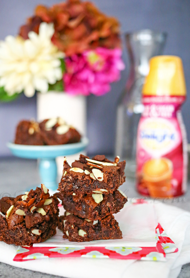 Chocolate Almond Cake Mix Bars