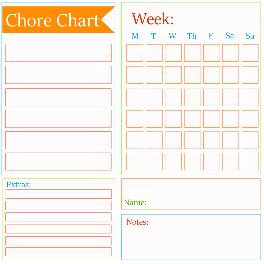 Chore chart template family chore chart template chore for Graph template for kids