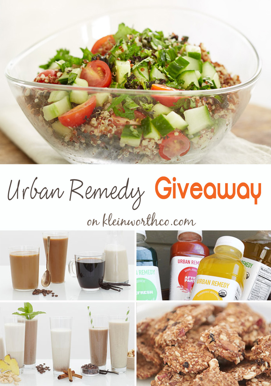 Urban Remedy Product Giveaway