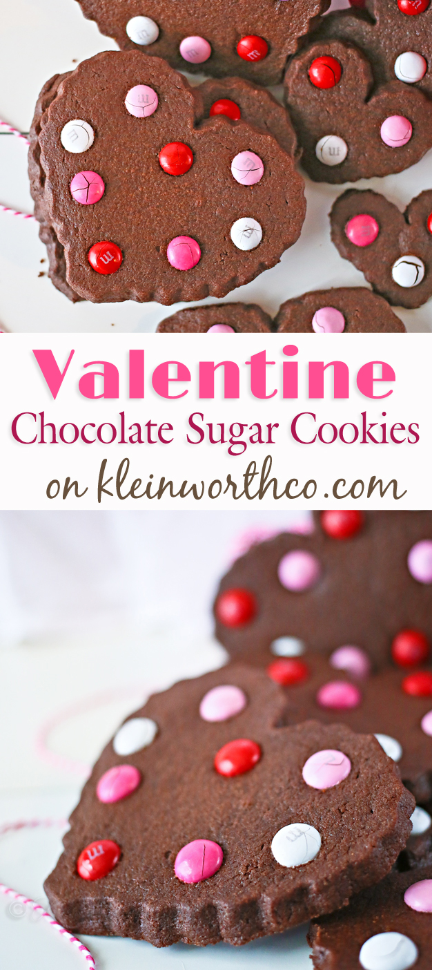 Valentine Chocolate Sugar Cookies - Kleinworth & Co