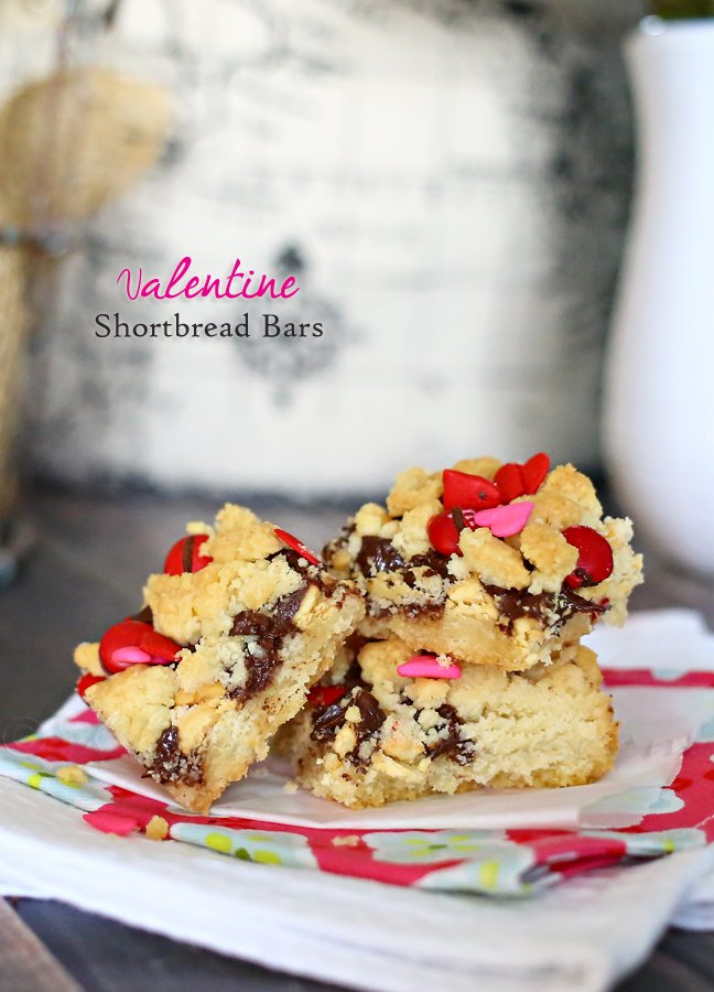 Valentine Shortbread Bars