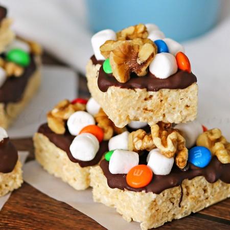 Rocky Road Krispies Treats : Yummy Bar Recipes