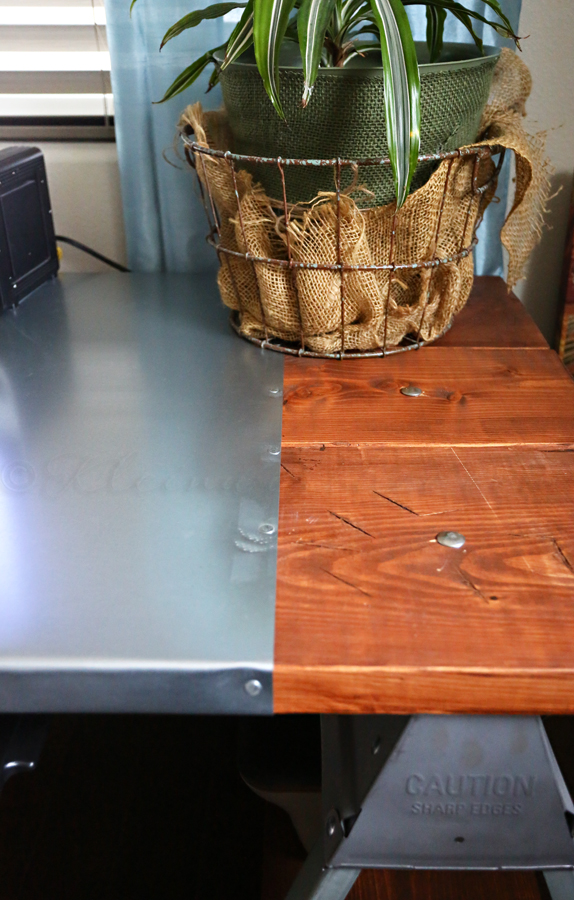Industrial Sawhorse Desk