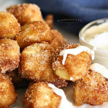 Cinnamon & Sugar Pretzel Bites recipe