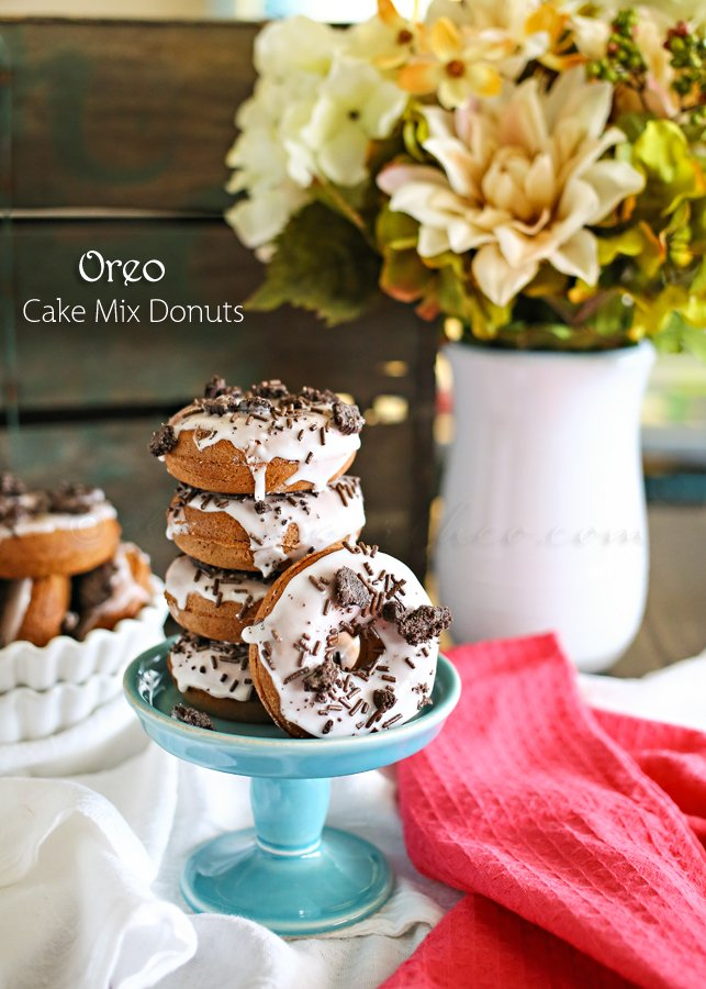 Oreo Cake Mix Donuts