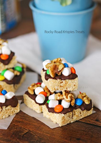 Rocky Road Krispies Treats