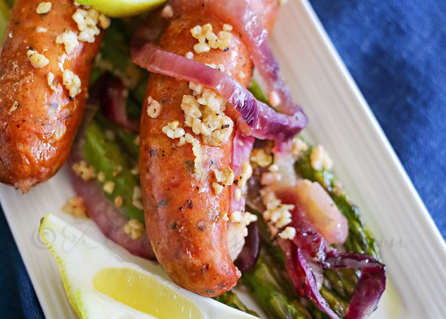 Garlic Sausage & Asparagus : Easy Family Dinner Ideas