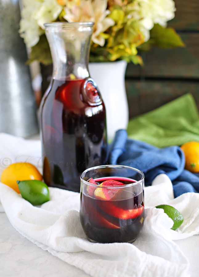 Sparkling Blueberry Sangria Mocktail from kleinwoethco.com