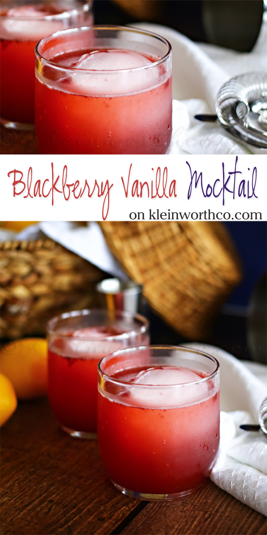 Blackberry Vanilla Mocktail : Mocktail Monday