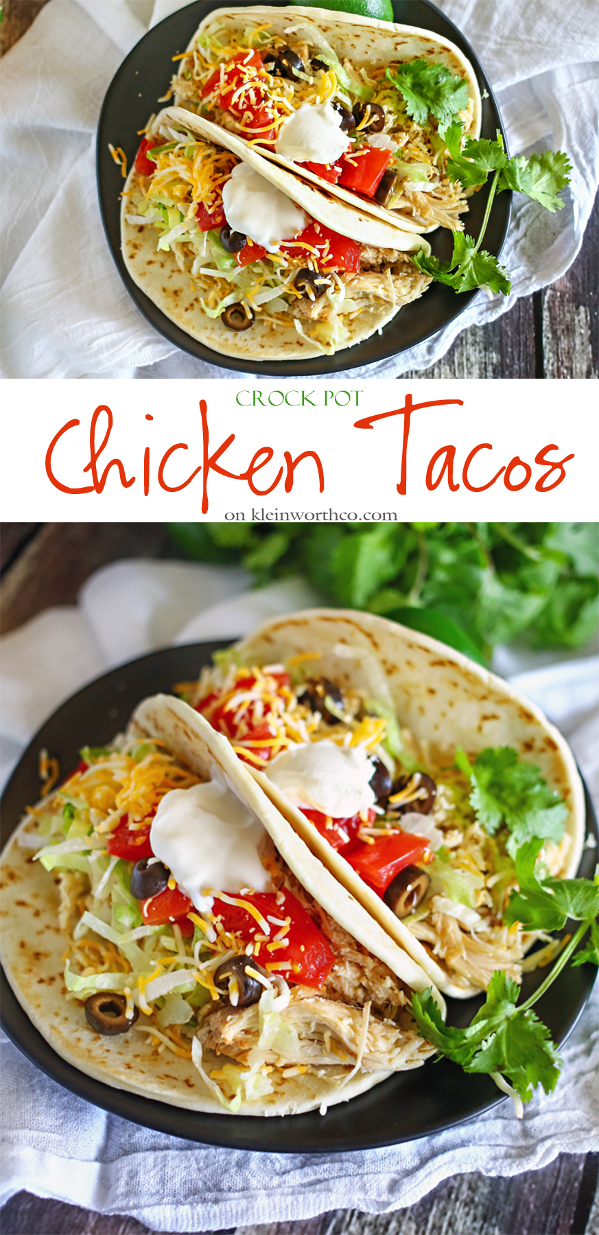 Crock Pot Chicken Tacos Easy Family Dinner Ideas Kleinworth Co
