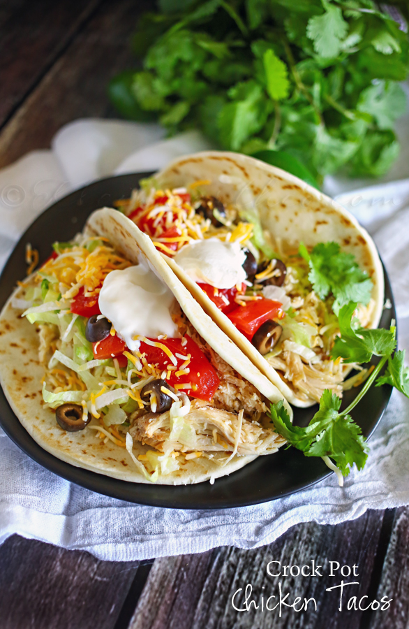 Crock Pot Chicken Tacos : Easy Family Dinner Ideas