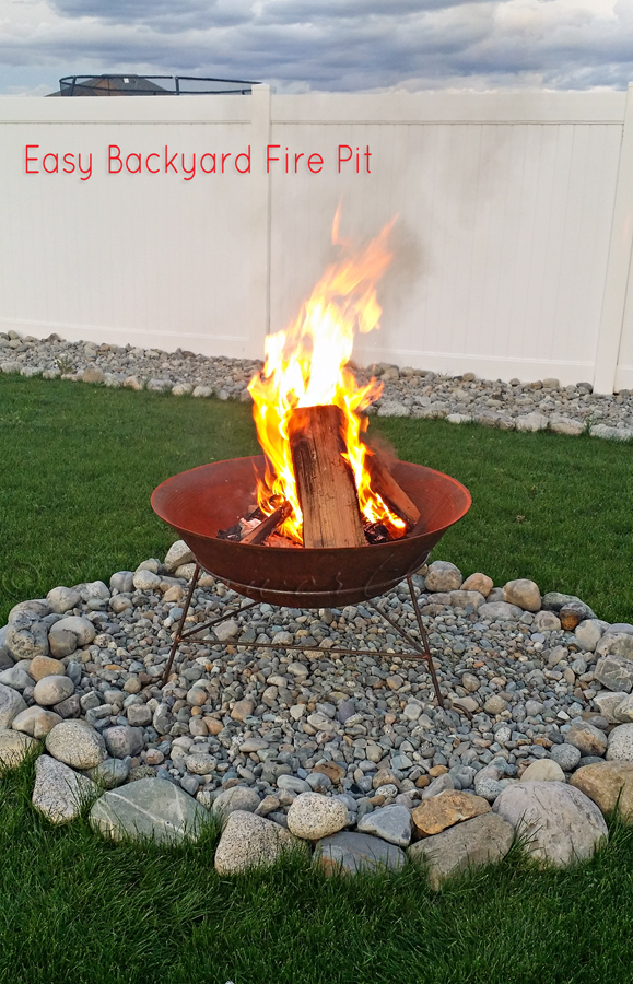 Easy Backyard Fire Pit {In Less than 30 Minutes}