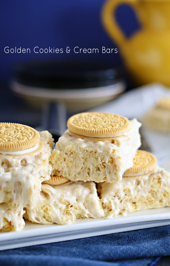 Golden Cookies & Cream Bars : Yummy Bar Recipes