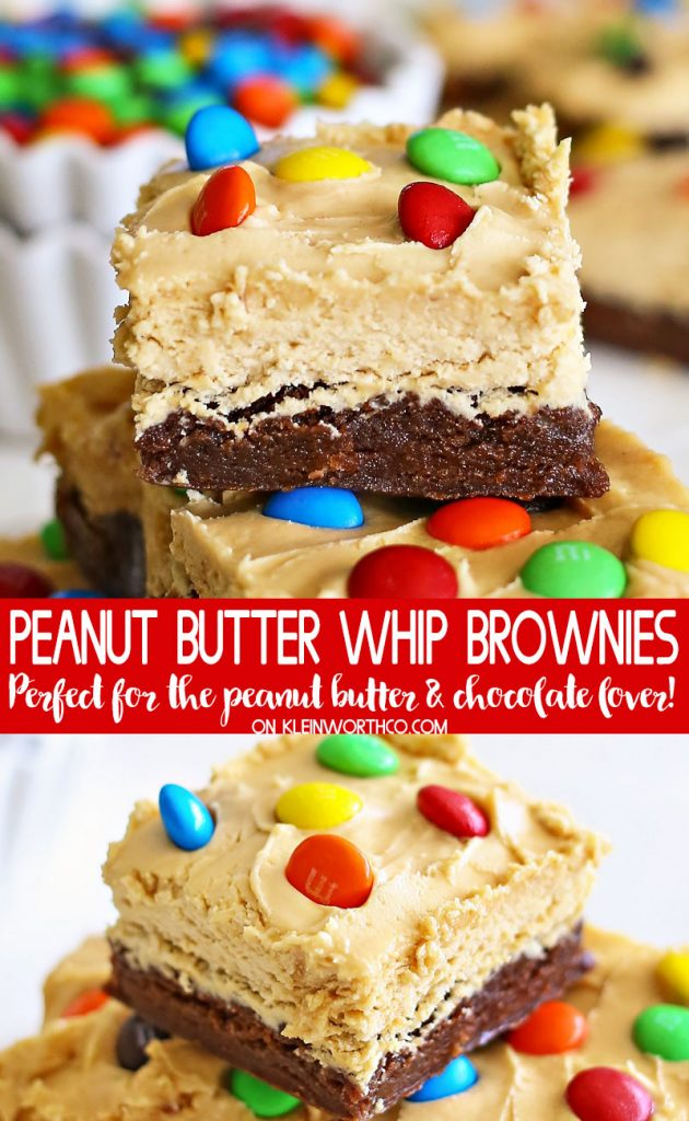 Peanut Butter Whip Brownies