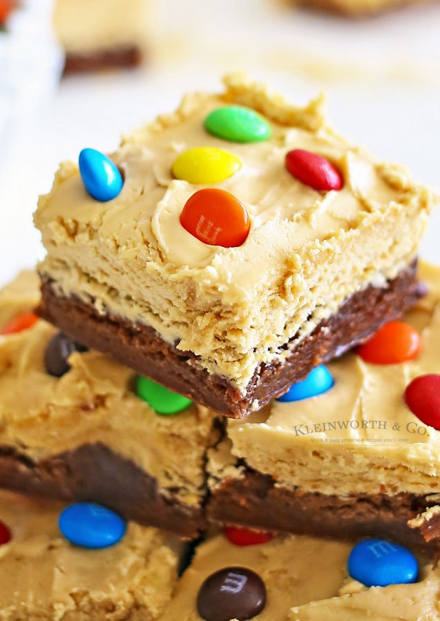 Peanut Butter Whip Brownies with M&M's