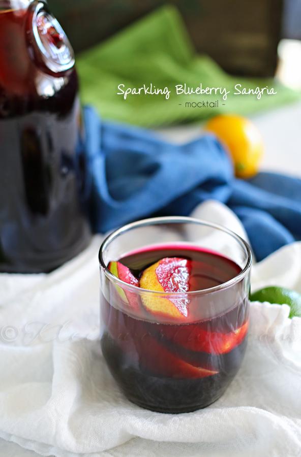 Sparkling Blueberry Sangria Mocktail from kleinworthco.com