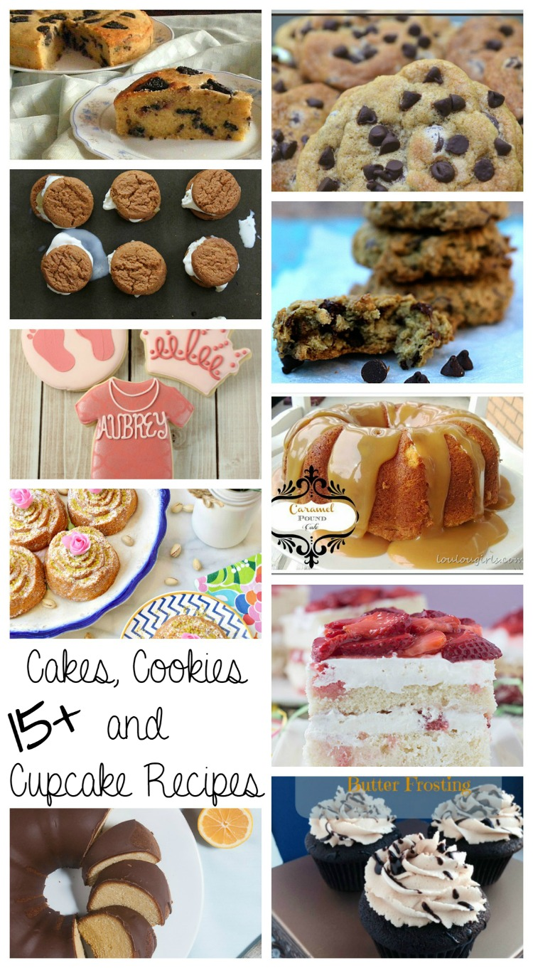 Cakes, Cookies and Cupcake Recipes