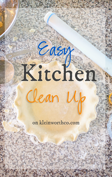 Easy Kitchen Clean Up