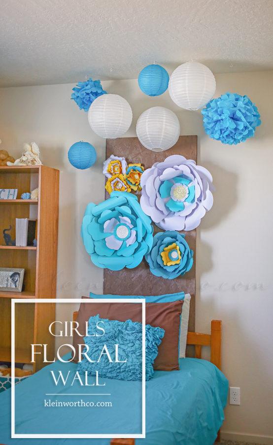 Girls Floral Wall