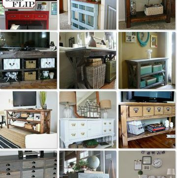 20 DIY Console Tables