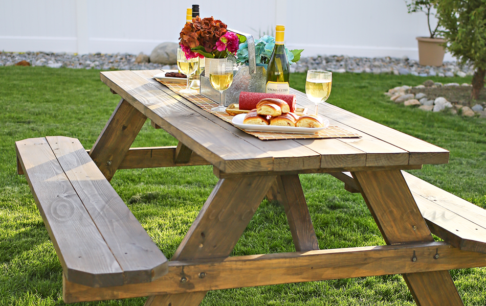 Easy Diy Picnic Table Kleinworth Amp Co