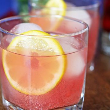 Boozy Pomegranate Lemonade
