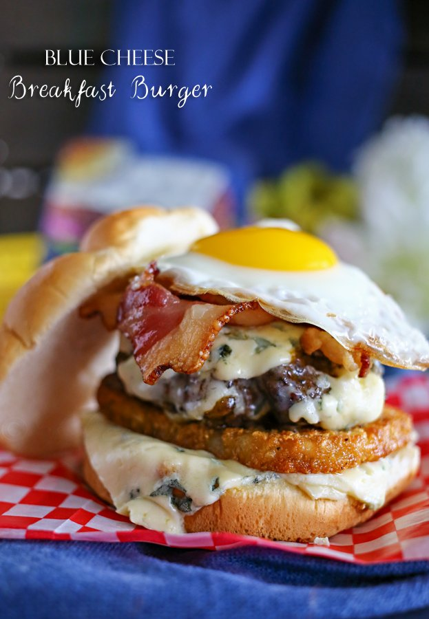 Blue Cheese Breakfast Burger