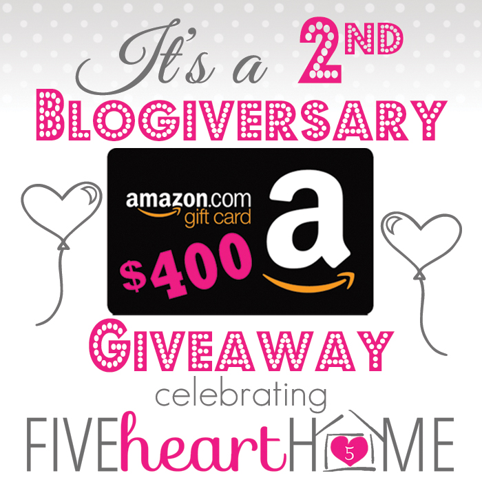$400 Amazon e-Gift Card GIVEAWAY