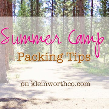 Summer Camp Packing Tips