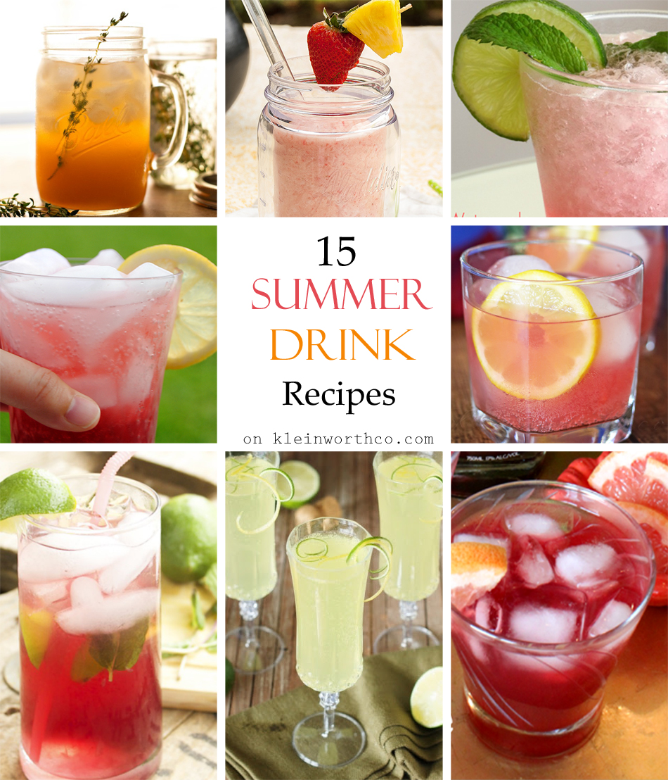 Summer Drink Recipes: 15 Summer Drink Recipes