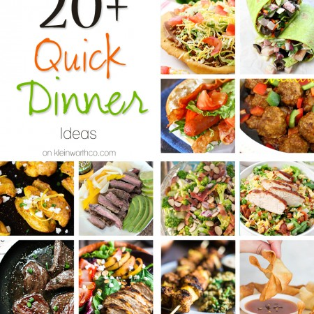 20+ Quick Dinner Ideas