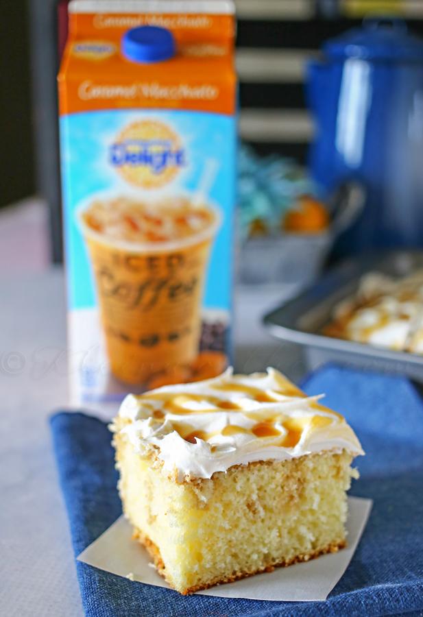 Caramel Macchiato Poke Cake