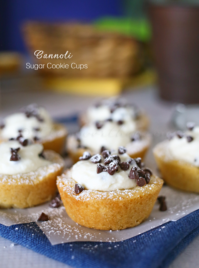 Cannoli Sugar Cookie Cup Recipe... Pin it now and make them later!
