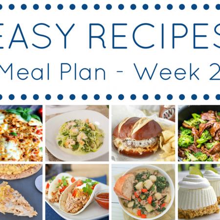 THE EASY DINNER RECIPES MEAL PLAN – WEEK 2