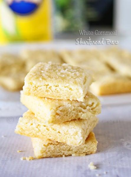 White Cornmeal Shortbread Bars
