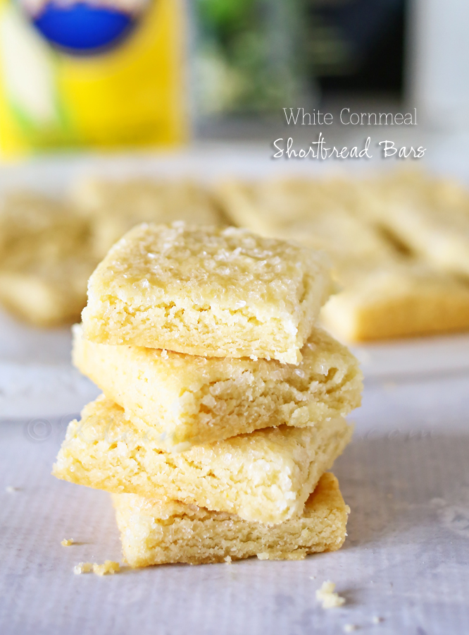 White Cornmeal Shortbread Bars