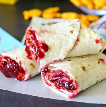 Almond Butter & Jam Wrap {Creative Lunchbox Idea}