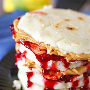 Peanut Butter & Jelly Arepas