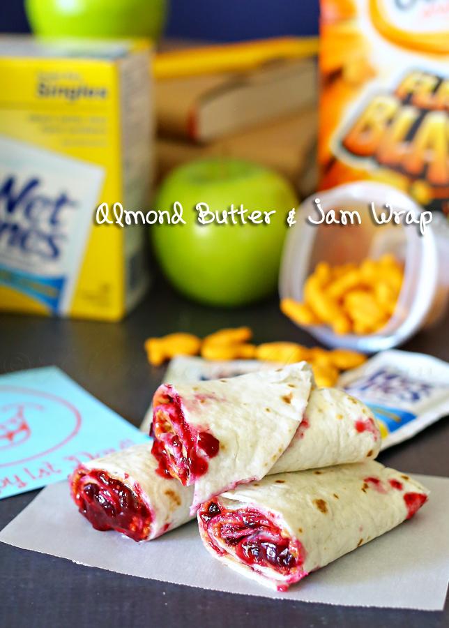 Almond Butter & Jam Wrap