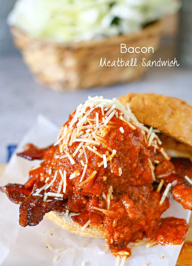 Bacon Meatball Sandwich