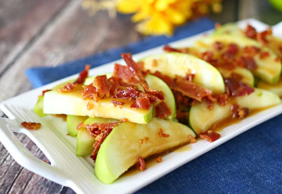 Bacon Caramel Apple Wedges